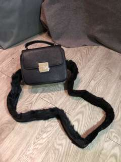 SALE zara fur strap bag tas zara
