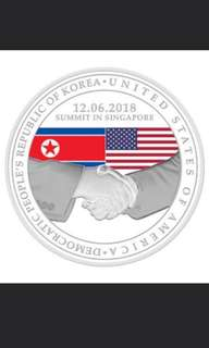 Trump - Kim 12 June Silver Proof Medallion