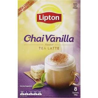 Lipton Tea Sachets Chai Latte Vanilla 8pk 185g