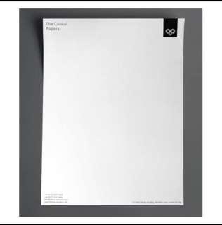 Printing of Letterhead (80gsm paper, 1C x 0C)