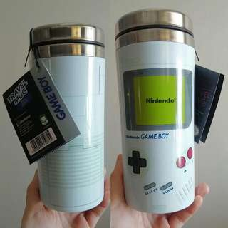 全新罕有 Gameboy Official 保温壺 水瓶 杯 環保咖啡杯 New. Game Boy Travel Mug Cup Retro Vintage Look