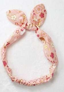 櫻桃小丸子x Hello Kitty聯名 粉色櫻花款髮帶