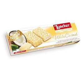 Loackers White Chocolate & Coconut Wafers 100g