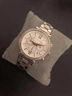 MK Rose gold-Silve watch (Original)