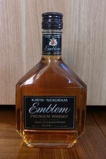 80s Kirin-Seagram Emblem Premium Whisky 500ml