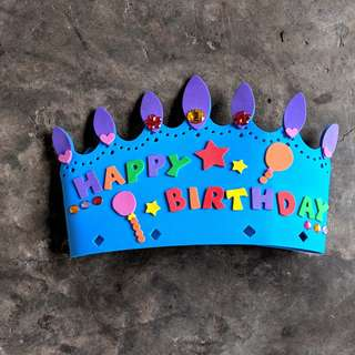 🚚 Happy Birthday Crown Craft Kit