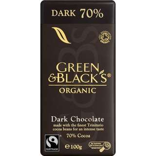 Green & Black's Organic Dark Chocolate 70% 70% 100g