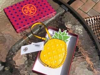 Tory burch 18新款水果零錢包 菠蘿款式 全頭層牛皮配漆皮材質 時尚