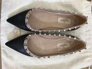 Valentino Rockstud Flats Size 36.5