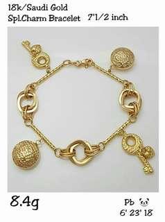 Saudi Gold 18k Bracelet