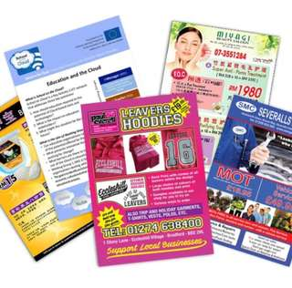 Printing of A3 Flyers/ Leaflets Single Sided