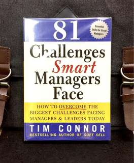 《Preloved Paperback + Find Out How & What Separates Great Managers From The Rest》Tim Connor - 81 CHALLENGES SMART MANAGER FACE : How to Overcome the Biggest Challenges Facing Managers and Leaders Today