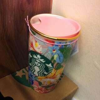 Starbucks Bando Flowery Double Wall Mug