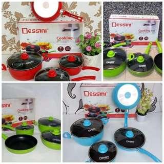 Panci Set Dessini 7pcs Alat Masak Di Dapur Lengkap Bahan Anti Lengket