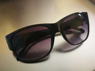Black Sunglasses with Stud Details
