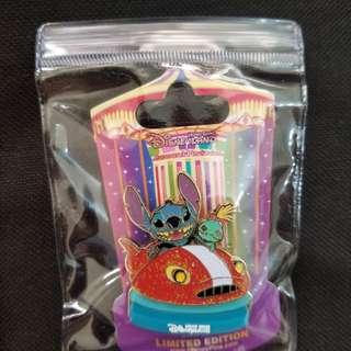 迪士尼徽章 木馬 史迪仔 LE300 stitch disney pin