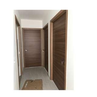 Full Solid Laminate Bedroom Door