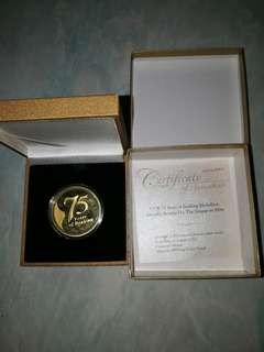 UOB 75th Anniversary Gold-Plated coin