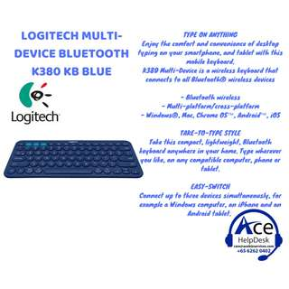 BNIB LOGITECH MULTI-DEVICE K380 BLUETOOTH Keyboard (Blue) Special Promotion!