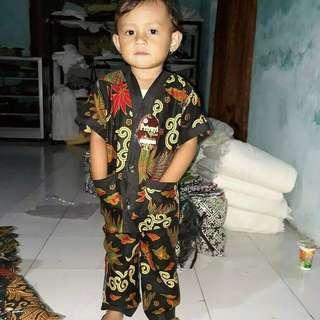 Piyama anak plus sandal jepit