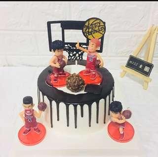 Slam Dunk Basketball Cake Topper Figurine Toy Cupcake Decoration Toppers Figure Birthday Japanese Manga NBA