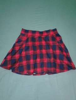 Cotton On Plaid Skirt
