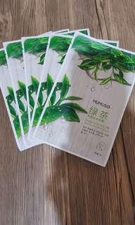 Green Tea Moisture Mask Pack (5 for 150php)
