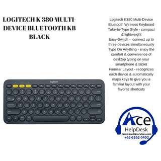🚚 BNIB LOGITECH MULTI-DEVICE K380 BLUETOOTH KB BLACK Special Promotion!