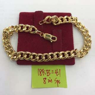 Saudi gold 18k Bracelet For Men