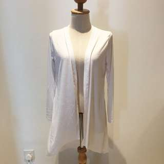 🆕BRAND NEW BRAND NEW Basic Waterfall White Cotton Long Cardigan