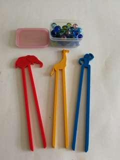 筷子夾波子遊戲