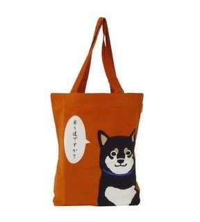 橙色柴犬tote bag