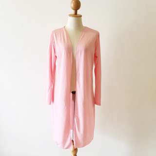 🆕BRAND NEW Premium Cotton Long Pink Cardigan