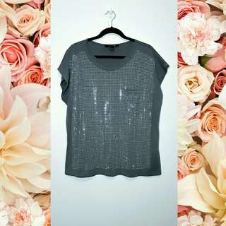 Forever 21 Gray Studded Top