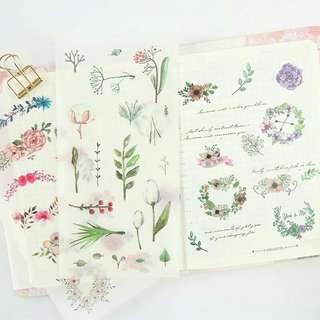 Floral Stationery Planner Stickers