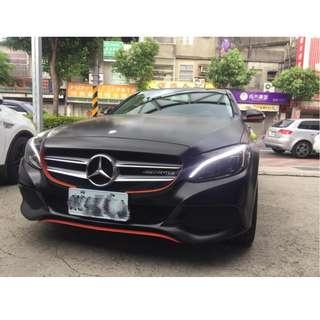 15年 賓士 W205 C300 消光黑 阿銘專營台灣優質認證中古車 二手車