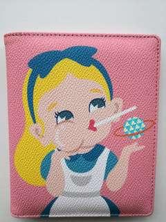 NEW Alice In Wonderland Pink Passport Holder & Wallet