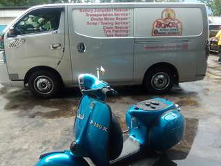 Scrap motorcycle / nea rebate / vespa px150 / islandwide towing