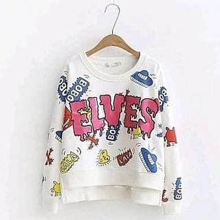SWEATER ELVES 60000 Bahan babytery fit L