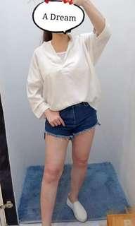 🚚 繡線兩件式口袋開襟衫