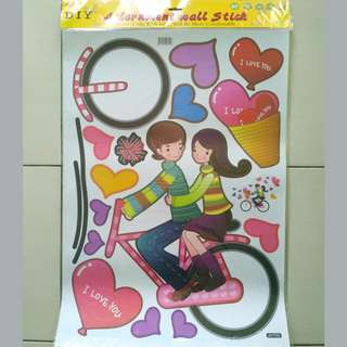 stiker dinding BICYCLE LOVE AY709