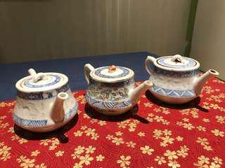 晚清-民國 米通 茶壺
