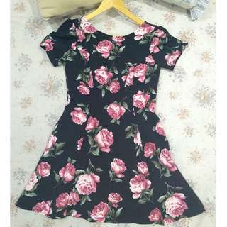 MANGO MNG FLORAL DRESS S/M