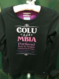 🚚 美國百分百Columbia 長袖印花T恤,女M,肩36、長58cm