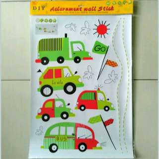 stiker dinding cartoon cars AY7012