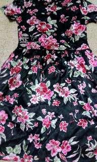Dress Kombinasi Bunga
