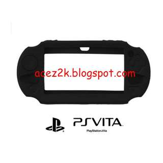 [BN] PSV PS Vita 1000 / 2000 Slim Silicone Cover Casing - Black (Brand New)