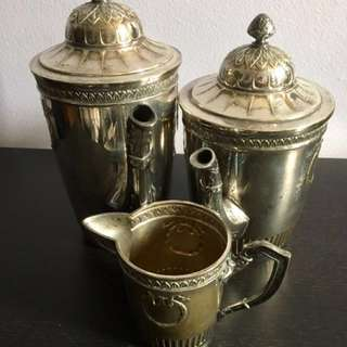 Silver Plated Coffee Set From france