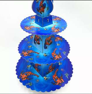 Superheroes Spiderman party supplies - cupcake stand / dessert stand / party deco
