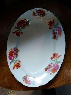 Oval plate japan antik
